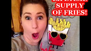 VLOG: Life-time supply of FRIES...& strawberry wine!