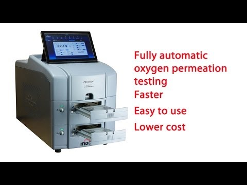 MOCON OX-TRAN 2/22 fully automatic oxygen permeation test system