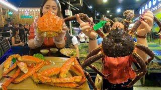 Ăn Cua hoàng đế khổng lồ ở nhà hàng hải sản lớn nhất Đà Nẵng | 300$ Meal in Làng Cá Seafood