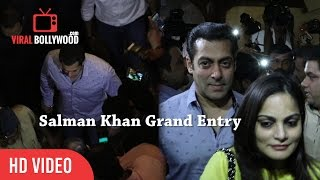 Salman khan grand entry at bmc office | bmc brand ambassador for anti open-defecation campaign
