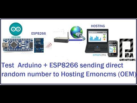 Test Arduino + Module ESP8266 Random to Hosting Emoncms (OEM)  OpenEnergyMonitor : PDAControl
