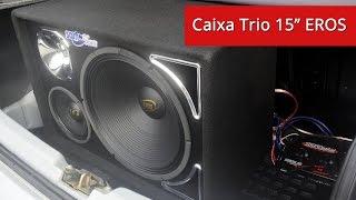Caixa de Som Trio Woofer Eros 15&quot 400w - 8&quot 200w - Driver 2540ti - SD 800.4 - www ...