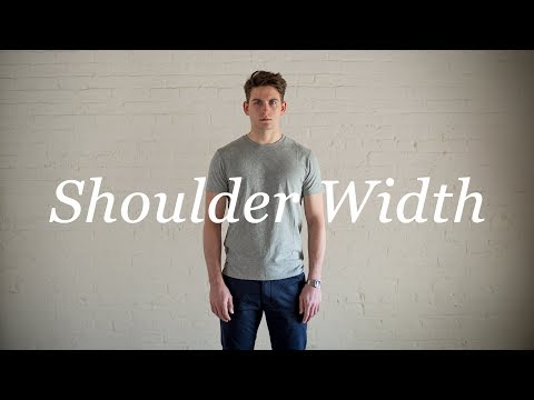 How To Measure Your Body: Shoulder Width - YouTube