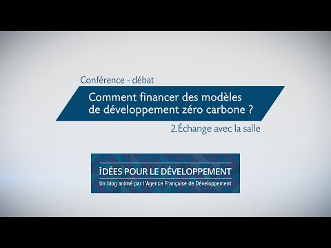 Comment financer des modèles de développement zéro carbone ? 2/3