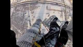 видео промышленные альпинисты