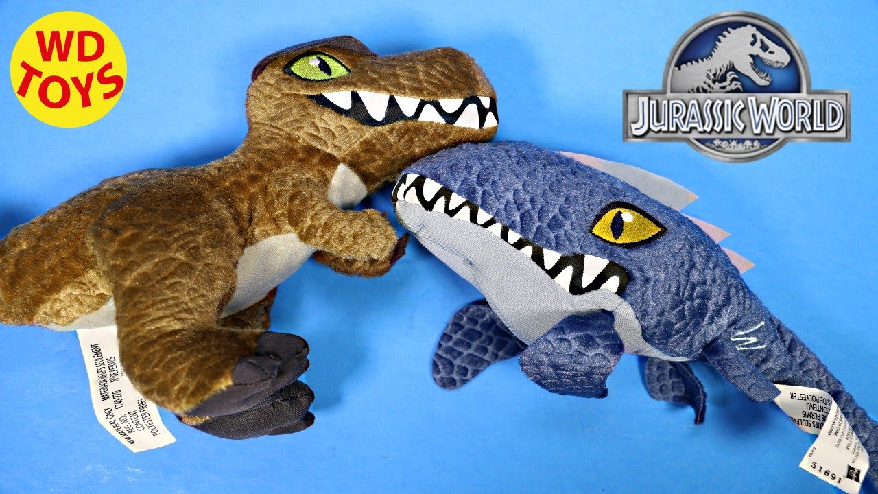 Aurora Monkey Stuffed Animal, Jurassic World Plush Toys Mosasaurus And Tyrannosaurus Rex Unboxing Review By Wd Toys Youtube