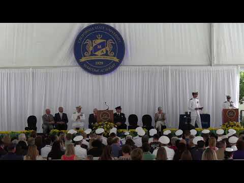Cal Maritime Commencement 2018  - Military Commissioning Cer