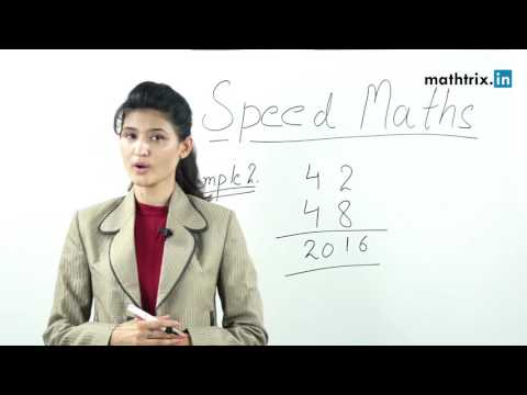 Best Speed Maths Techniques -  Multiply 42X48 In Just ONE Second - Multiplication Techniques