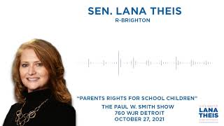 Sen. Theis talks parents rights for school children on the Paul W. Smith Show