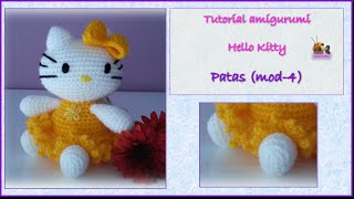 Tutorial Amigurumi Hello Kitty - Patas (mod-4)