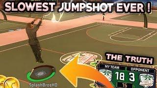 SLOWEST JUMPSHOT EVER ! DROPPED OFF • CRAZY JUMPSHOT NBA 2K17 MyPark