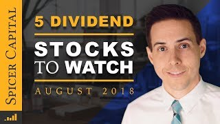 🖐️ 5 Healthy, Consistent, High Dividends! 💸 August 2018