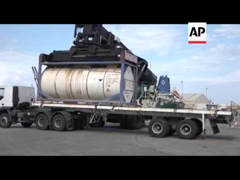Danish vessel removes Libyan chemical weapons