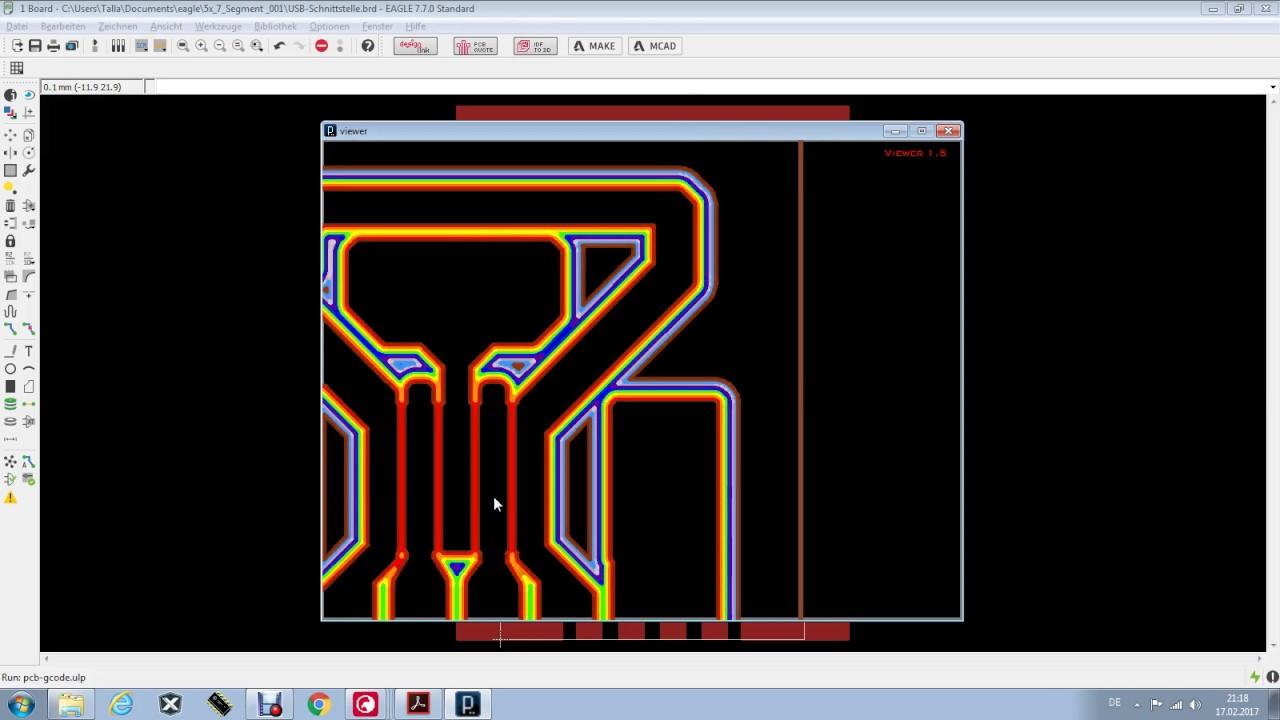 Eagle und PCB-GCODE - Wie ich ein NC Programm damit erstelle