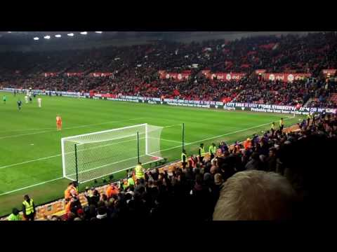 WAYNE ROONEY RECORD BREAKING GOAL VS STOKE AMAZING FAN VIEW