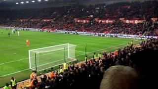 Wayne rooney record breaking goal vs stoke amazing fan view