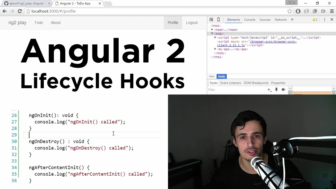 Angular 2: Lifecycle Hooks Explained in 8 minutes