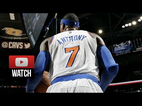 Carmelo Anthony Full Highlights at Cavaliers (2014.10.30) - 25 Pts, Clutch!