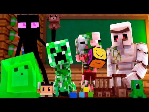 Minecraft - BRINQUEDOS DOS MONSTROS !! - Escola Monstro #02 | Monster School