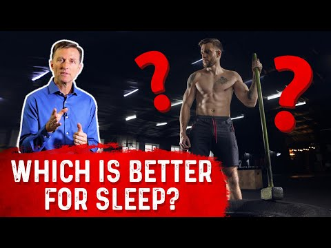 Exercise vs. Physical Work: What is Better for Sleep?