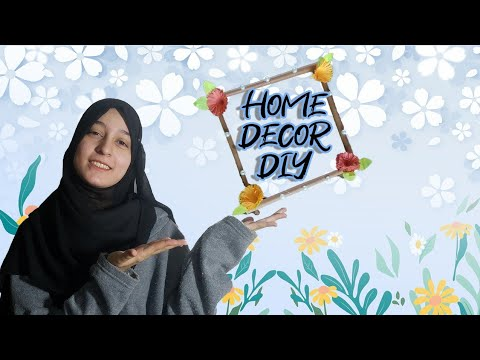 How To Make Flower Frame | Home Decor Diy | Wall Hanging Paper Craft