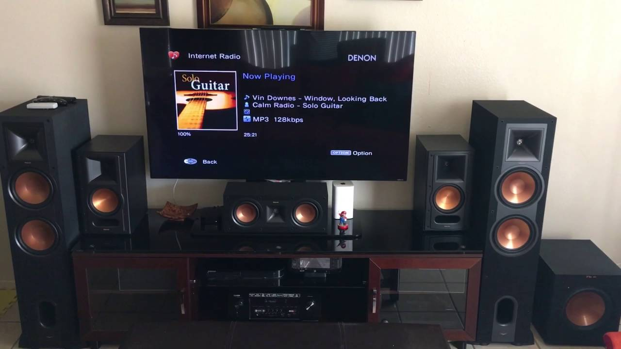 klipsch speakers setup demo r 28f youtube