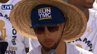 WARRIORS PARADE: Coaches and players address crowd at Warriors parade