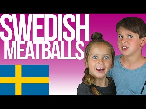 American Kids MAKE Köttbullar | Swedish Meatballs