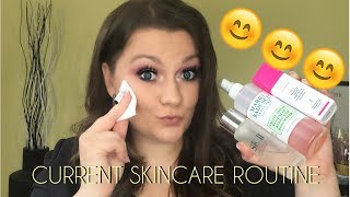 CURRENT SKINCARE ROUTINE | ROSACEA & DRY SKIN