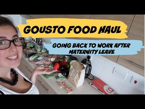 RETURNING TO WORK AFTER MATERNITY LEAVE | CHATTY VLOG | FOOD HAUL