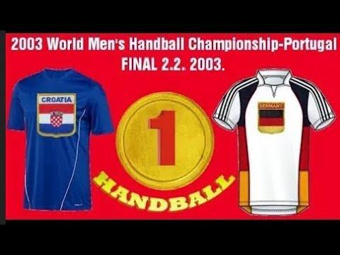 2003 World Men's  Championship FINAL HRVATSKA CROATIA GERMANY NEMAČKA гандбол