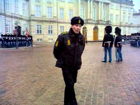 Changing The Guard - Amalienborg Palace, Copenhagen, Denmark