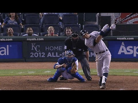 Alex Rodriguez hits three home runs vs. Royals