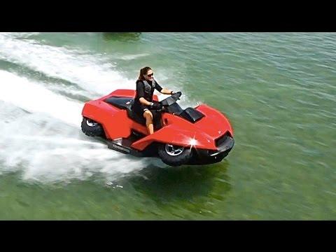 Amphibious Vehicles ATV Quad Bike Gibbs Quadski TV Commercial Amphibious ATV In Water CARJAM TV 2015