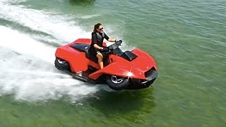 Amphibious Vehicles ATV Quad Bike Gibbs Quadski TV Commercial Amphibious ATV In Water CARJAM TV 2015