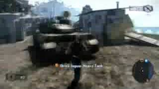 Mercenaries 2 E3 2008 - Tank Cam Gameplay