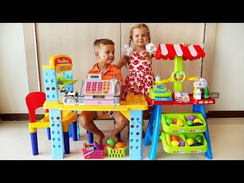Diana and Roma Pretend Play SuperMarket with Grocery Store Toy