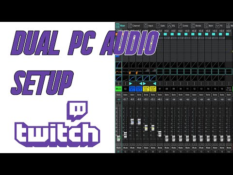 Dual PC streaming Mixer Audio Setup  (Gaming and Stream PC)