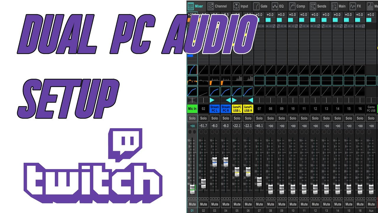 Dual PC streaming Mixer Audio Setup  (Gaming and Stream PC) **READ NOTE IN DESCRIPTION