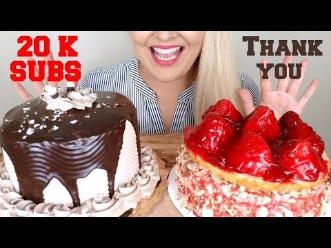 Chocolate Cake and Cheesecake ASMR Eating Sounds *No Talking