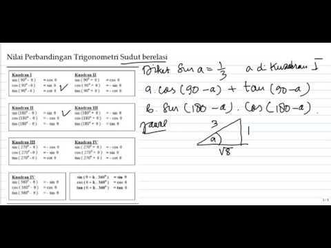 Perbandingan Trigonometri Sudut Berelasi Lengkap Dan Contoh Soal Youtube