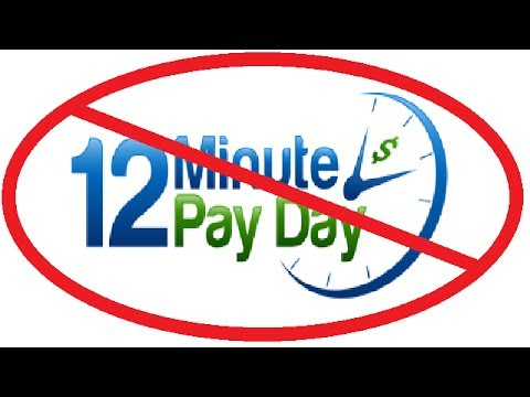 Is 12 Minute Payday worth the risk?? Should you buy 12 Minute Payday? 12 Minute Payday review