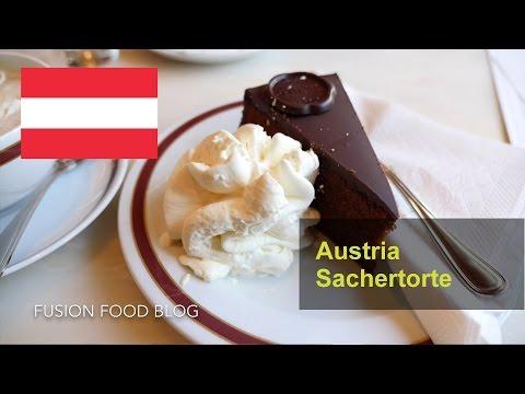 Sacher torte Austrian chocolate sponge cake Cafe Sacher Salzburg vlog