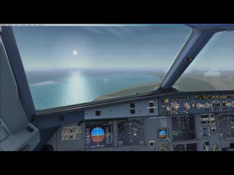 Kuwait airways A320 Landing At Muscat Int Airport ( FSX )