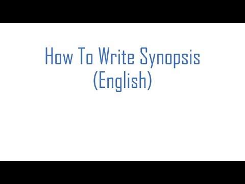 How To Write Synopsis- (English)