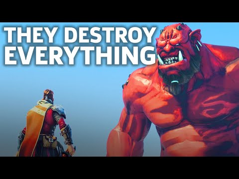Extinction Is Coming - Fighting A Giant Gameplay