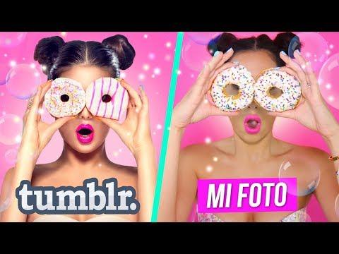 Imitando Fotos TUMBLR con COMIDA   Mariale
