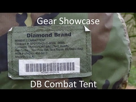 Gear Showcase: The Diamond Brand US Marine Corps Combat Tent Stealth Camping/Wild Camping/Bushcraft