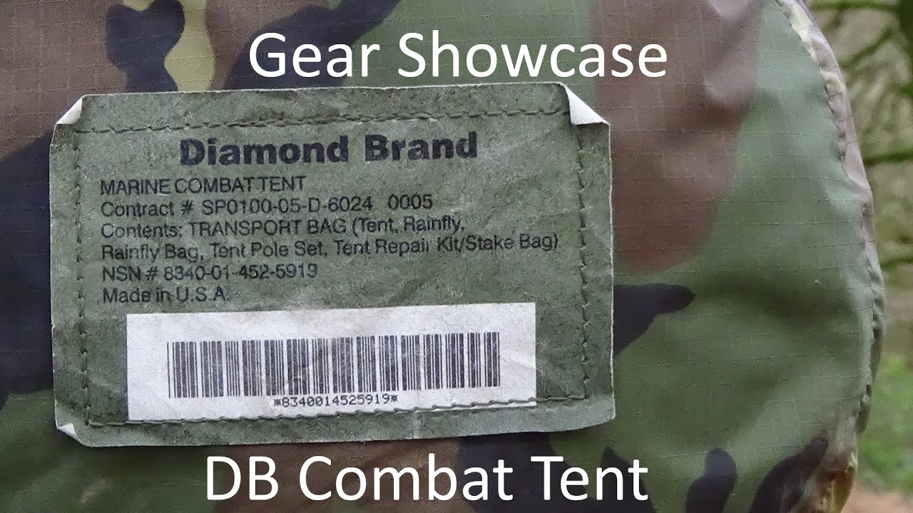 Gear Showcase The Diamond Brand US Marine Corps Combat Tent Stealth C&ing/Wild C&ing/Bushcraft - YouTube & Gear Showcase: The Diamond Brand US Marine Corps Combat Tent ...