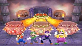 Mario Party 5 - Minigames #10 - Mario vs Luigi vs Waluigi vs Wario All Funny Mini Games